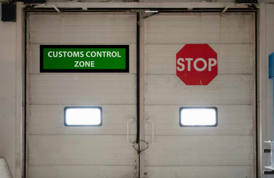 customs control zone automatic gates